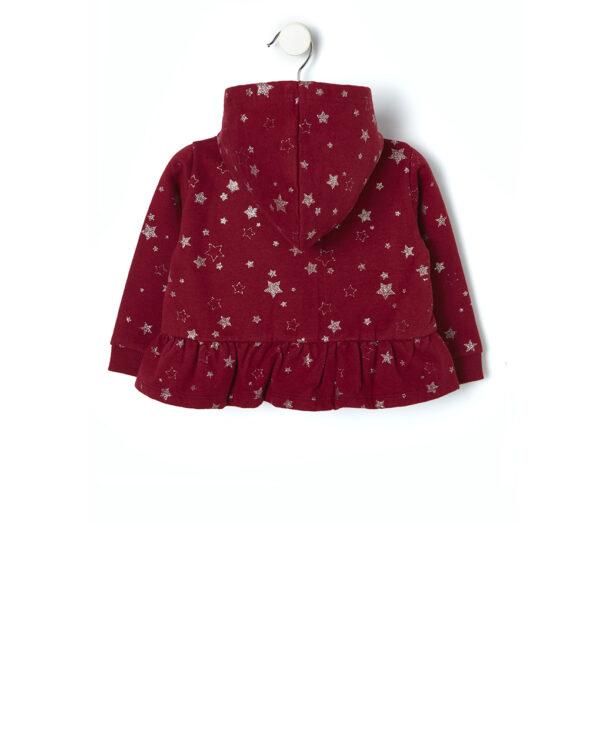Cardigan in felpa con stampa glitter - Prénatal