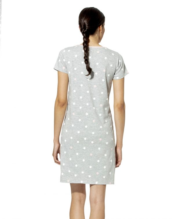 Camicia da notte allattamento con stampa stelle - Prénatal