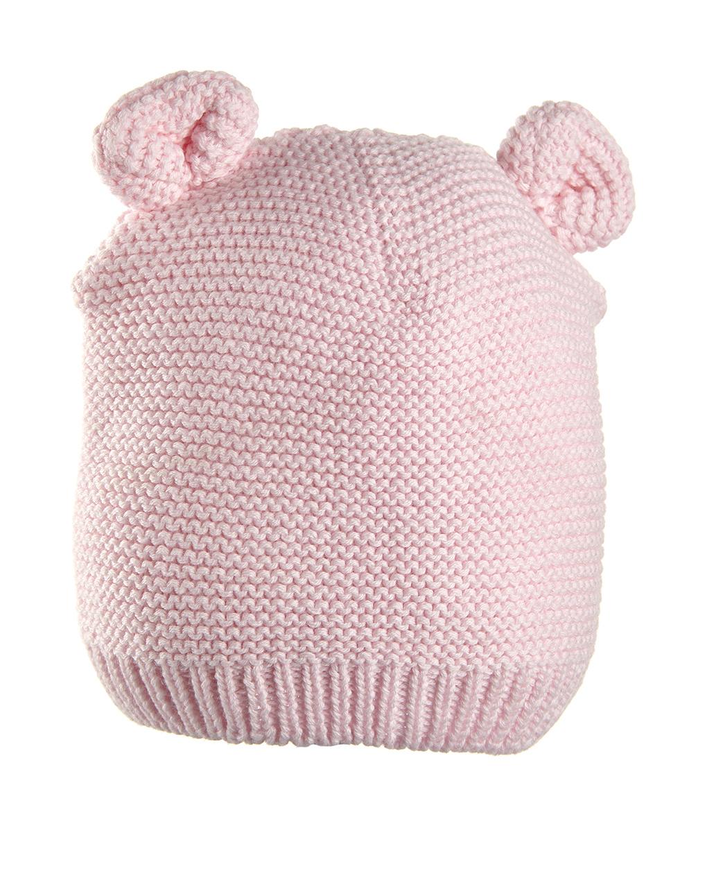 Cappello in tricot rosa con orecchie - Prénatal