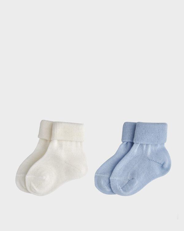 Pack 2 paia di calze azzurre e bianche - Prénatal