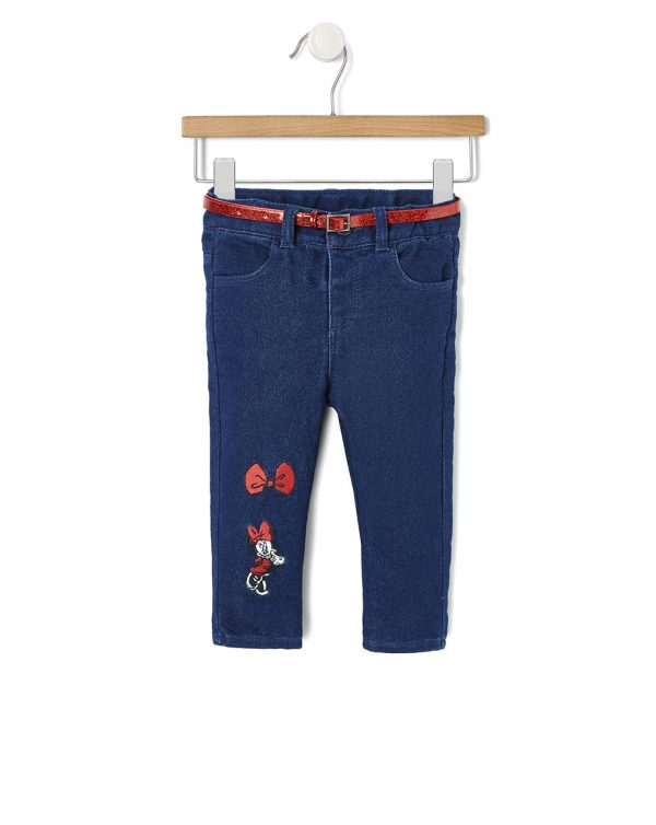 Pantalone denim con ricamo Minnie - Prénatal