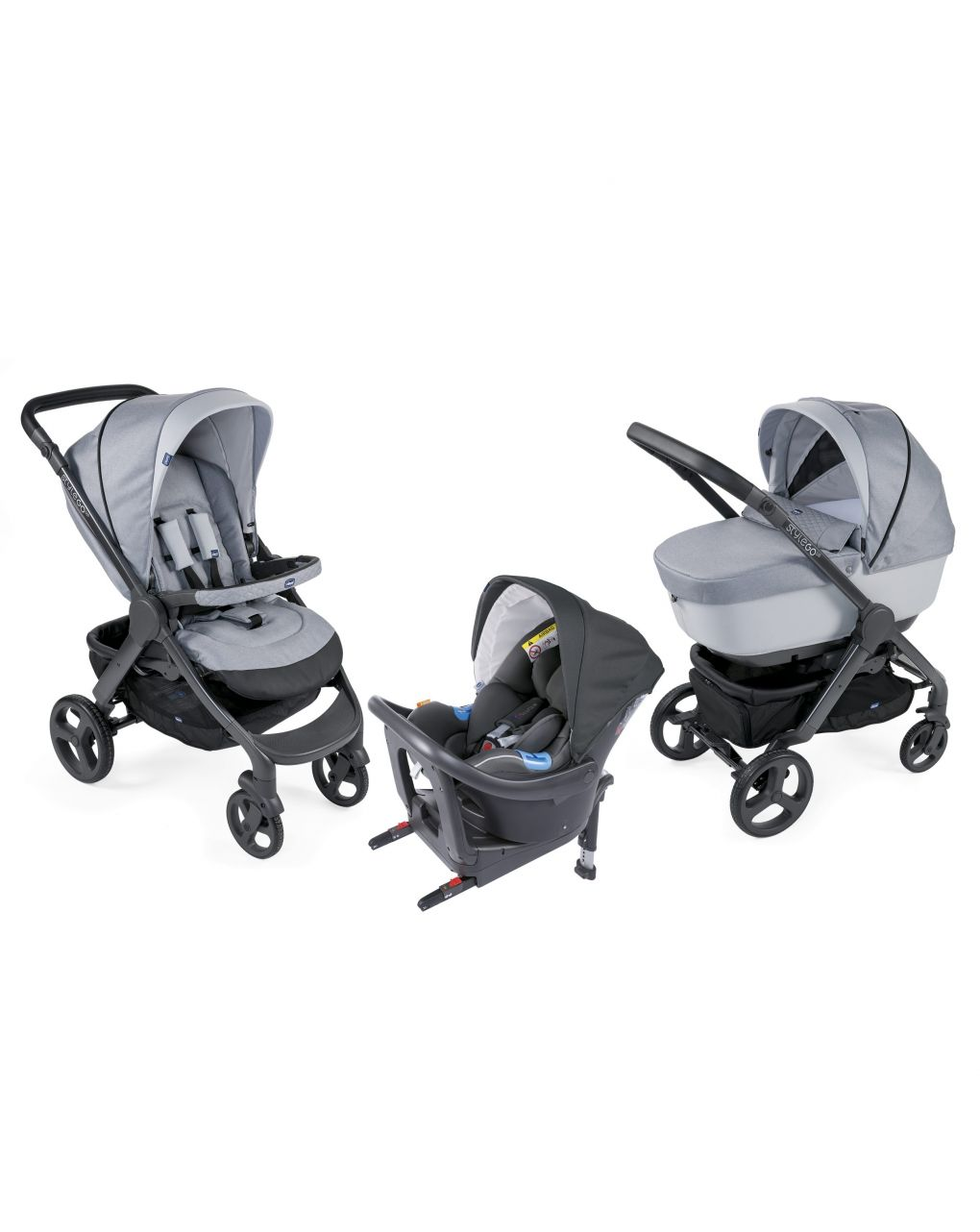 Trio style go up i size light grey - Chicco