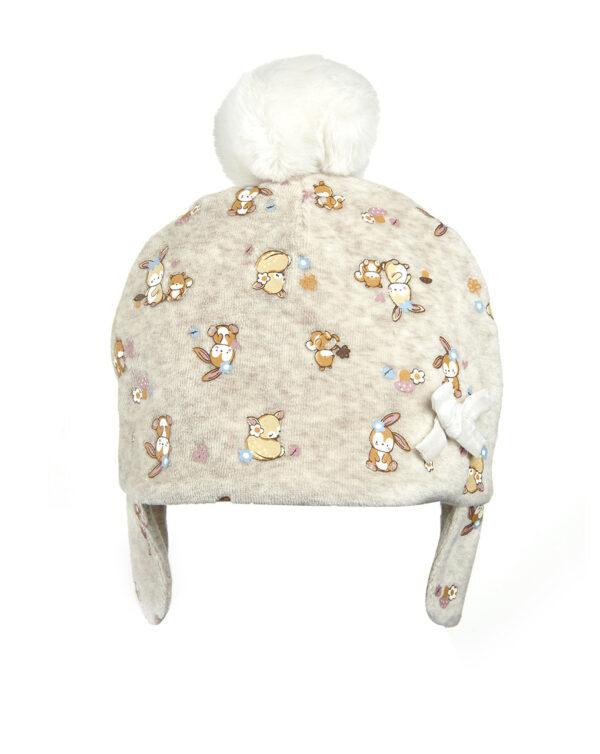 Cappello in ciniglia con pon pon - Prénatal