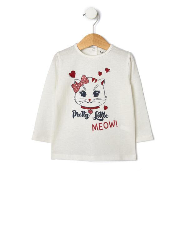 T-shirt con stampa gatto glitter - Prénatal