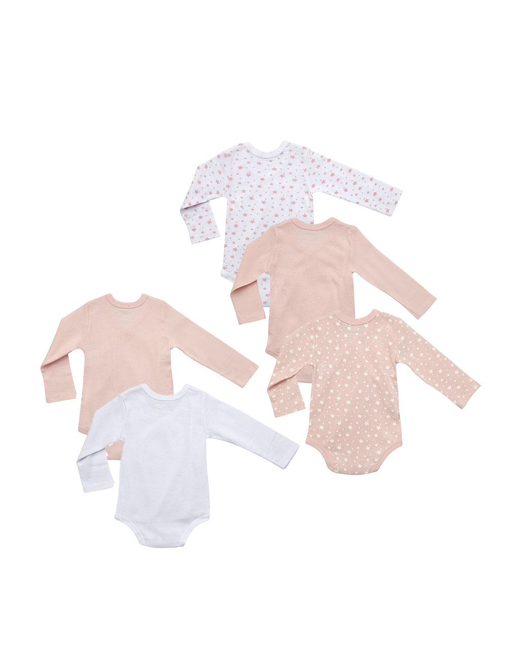 Pack 5 body rosa, bianchi e stelline - Prénatal