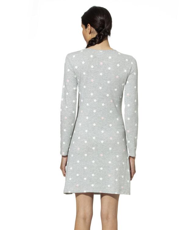Camicia da notte allattamento con allover stelle - Prénatal