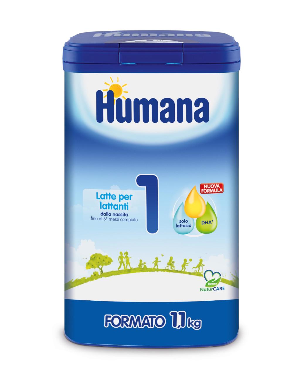 Humana - latte humana 1 polvere 1100g - Humana