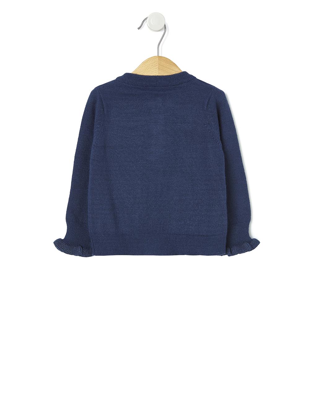 Cardigan in tricot blu scuro - Prénatal