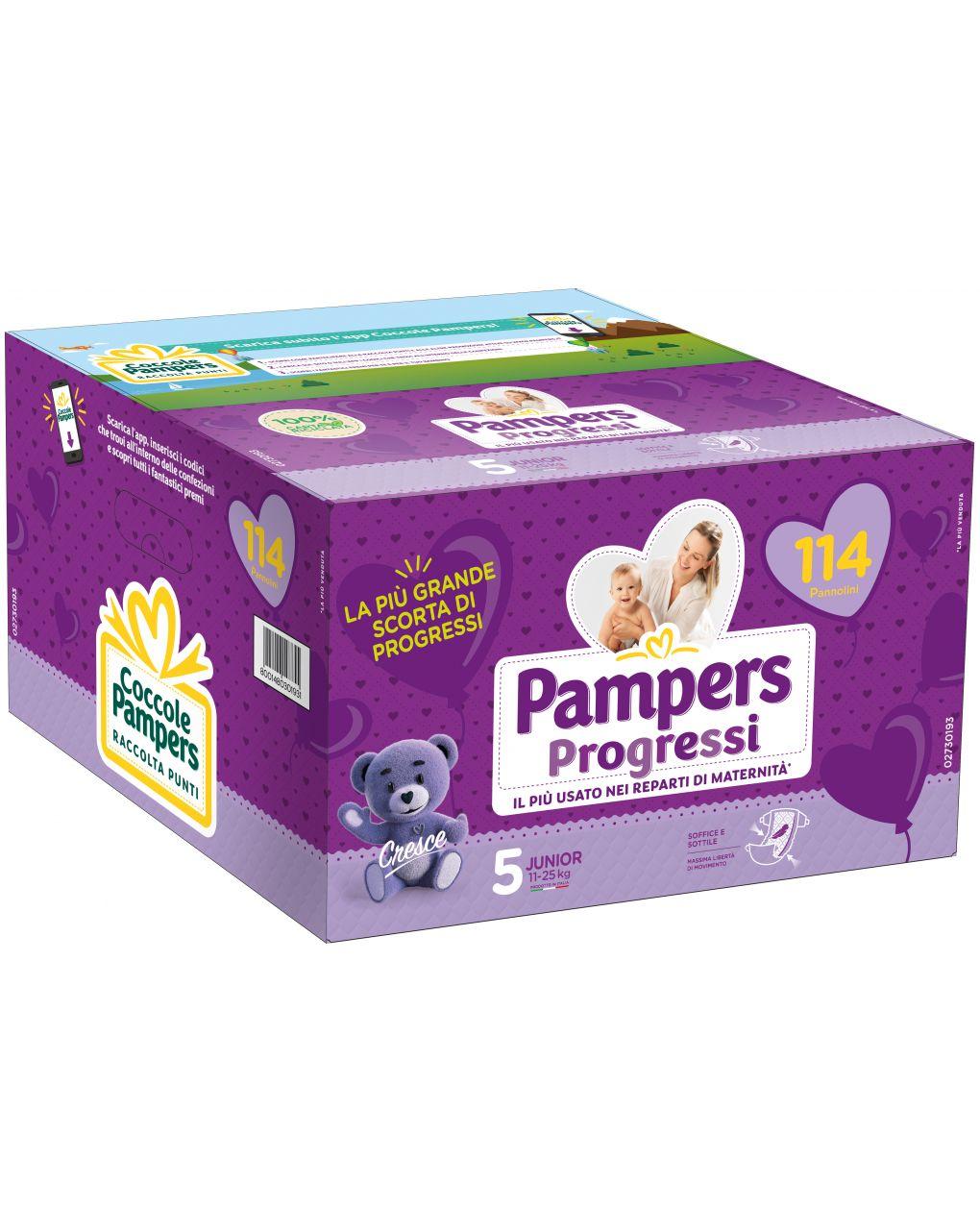 Pampers - pannolini progressi esapack tg. 5 (114 pz) - Pampers