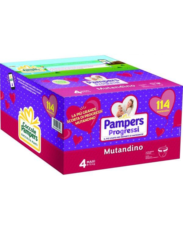Pampers - Pannolini Progressi Mutandino esapack tg. 4 (114 pz) - Pampers