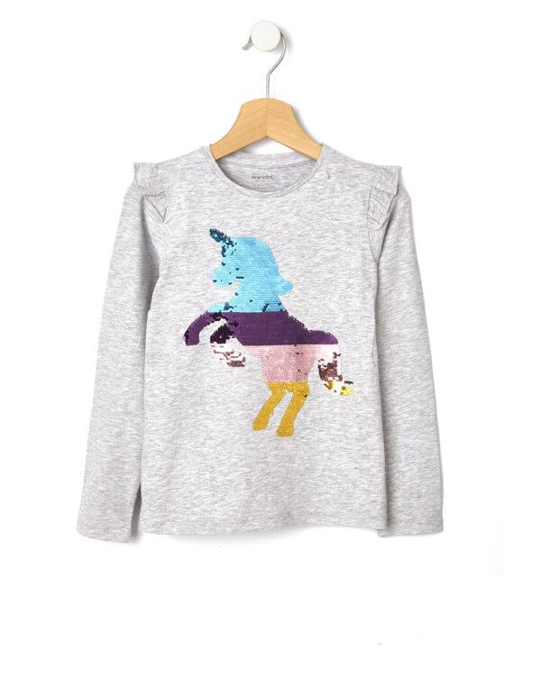 T-shirt con stampa e paillettes magiche - Prénatal