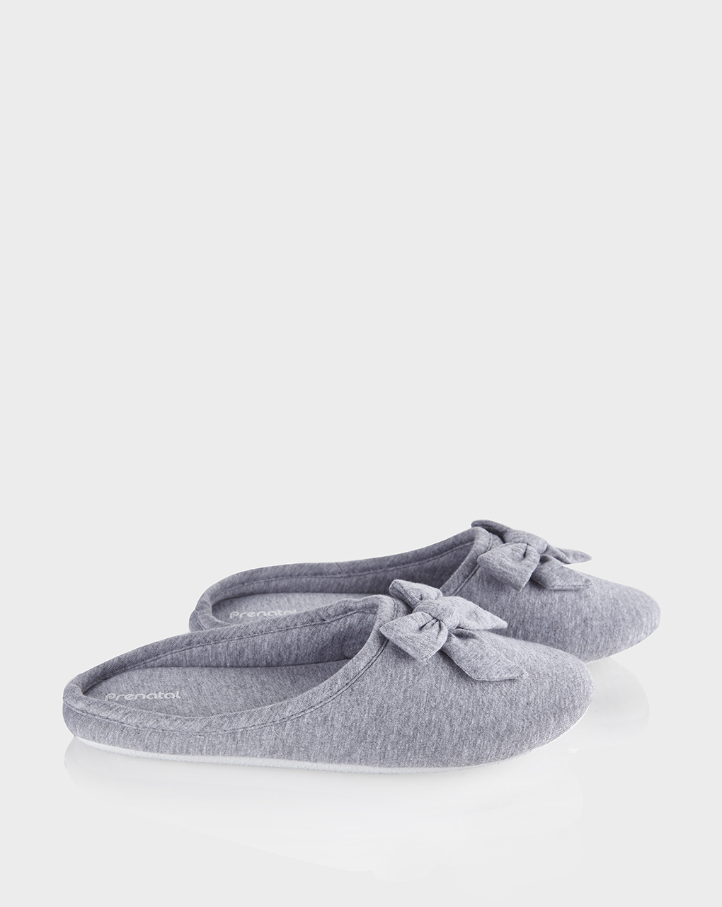 Pantofole chiuse con fiocco donna