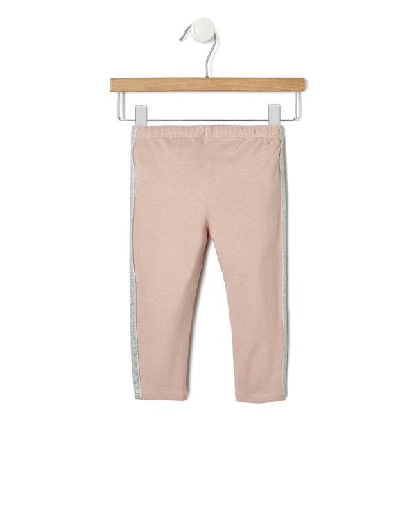 Leggings in jersey con bande in lurex - Prénatal