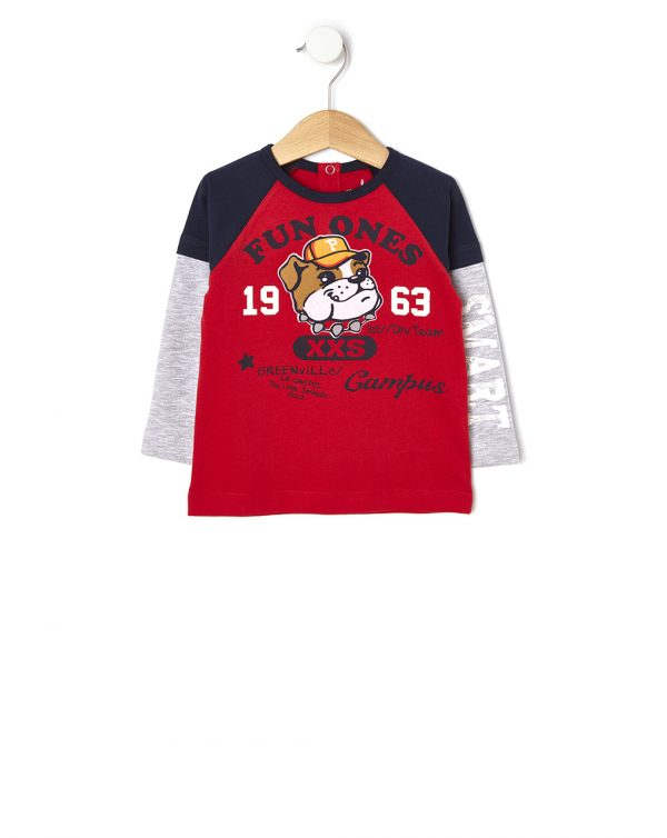 T-shirt manica lunga con stampa vellutata - Prénatal