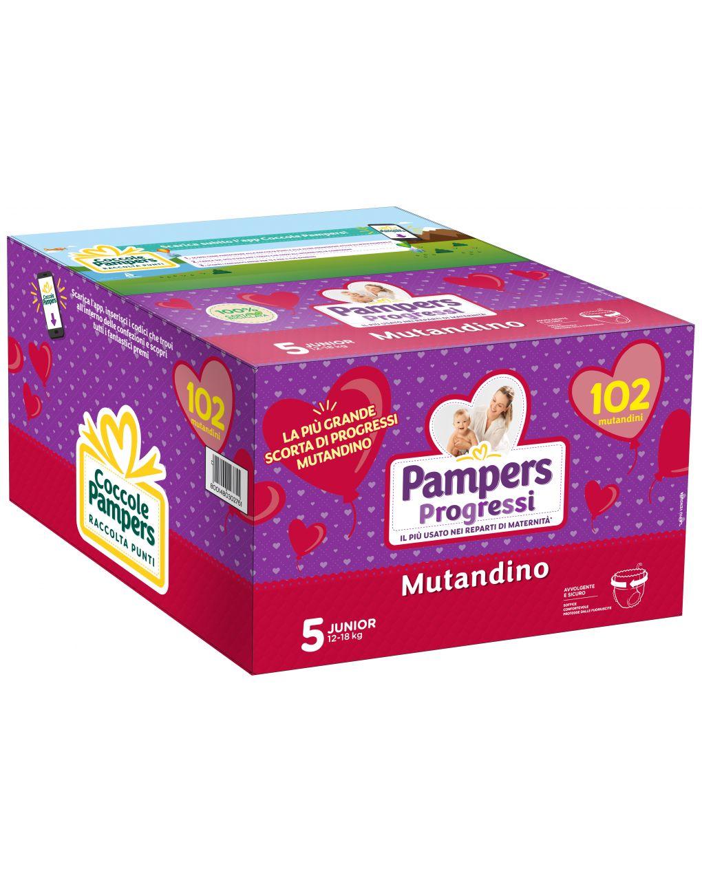 Pampers - pannolini progressi mutandino esapack tg. 5 (102 pz) - Pampers
