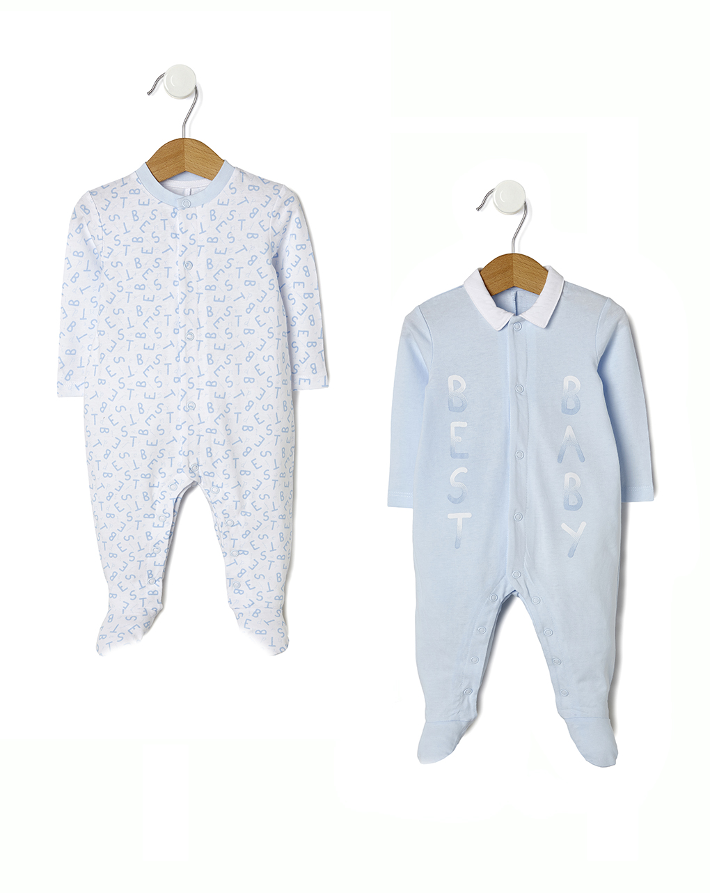 Pack 2 tutine azzurre e bianche con scritte - Prénatal