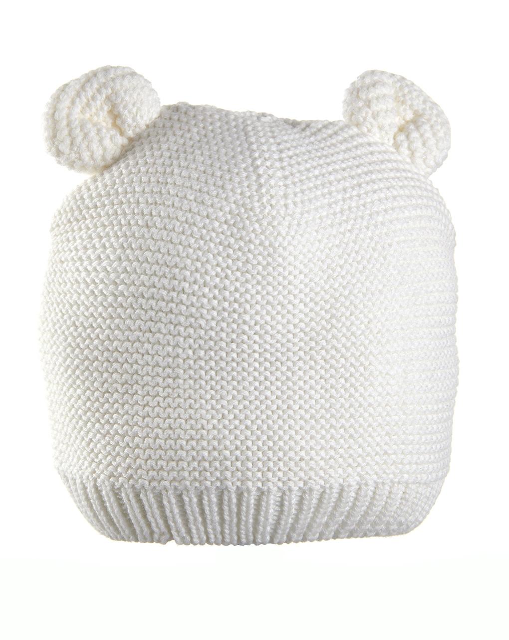 Cappello in tricot bianco con orecchie - Prénatal