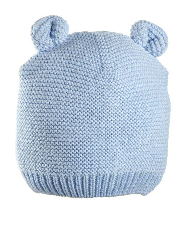 Cappello in tricot azzurro con orecchie - Prénatal