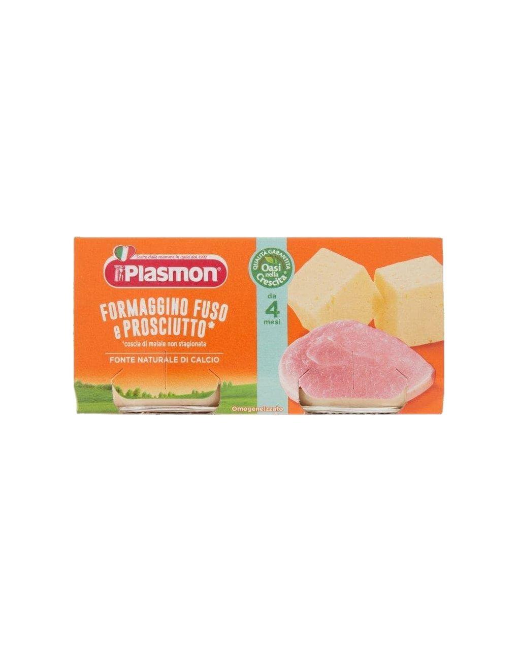 Plasmon - omogeneizzato formaggino fuso e prosciutto 2x80g - Plasmon