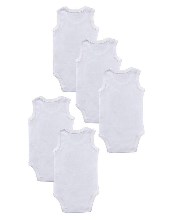 Pack 5 body bianchi con animaletti - Prénatal