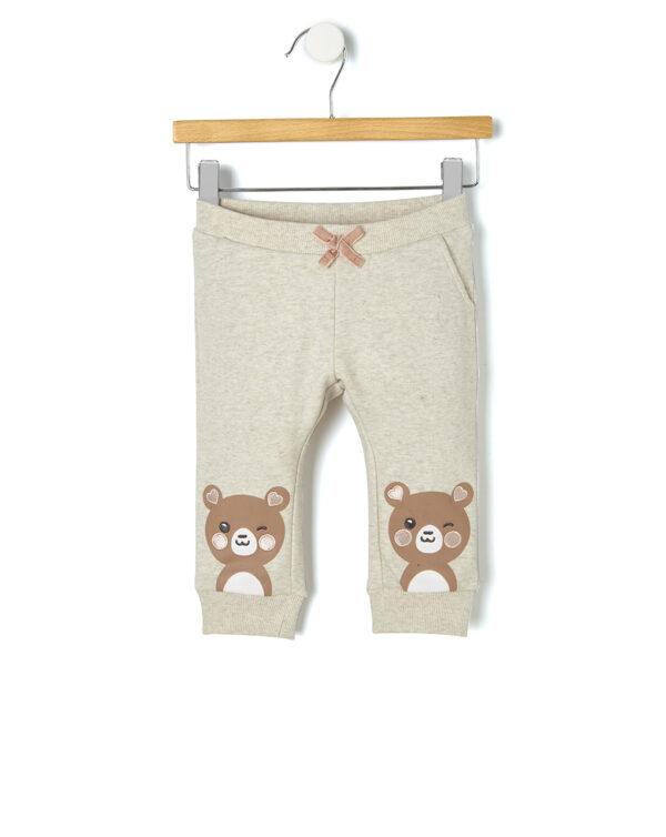 Pantaloni in felpa con stampa orsetto - Prénatal