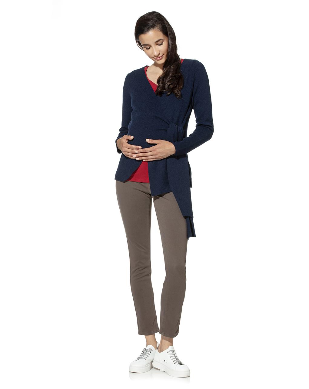 Cardigan tricot premaman incrociato - Prénatal