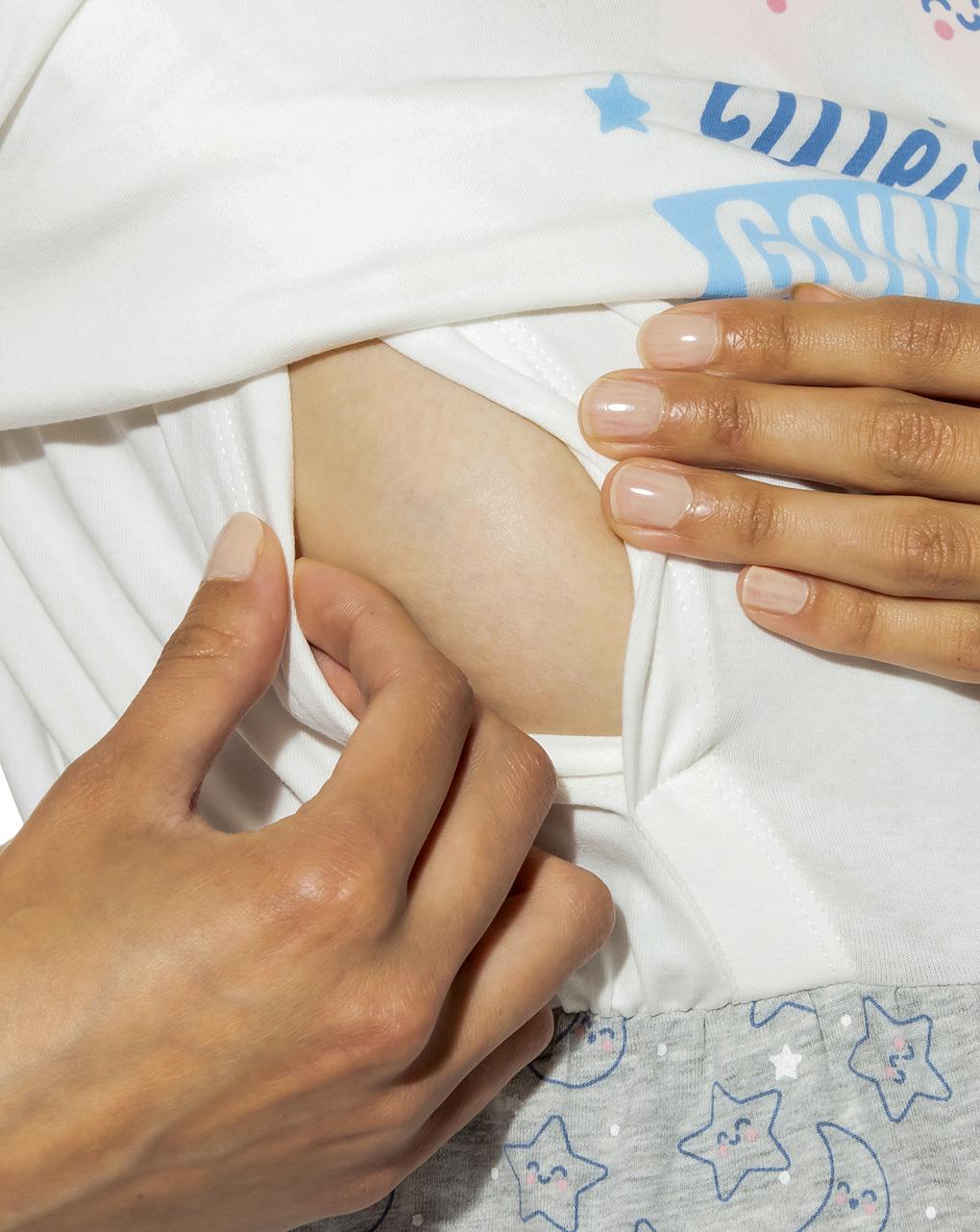 Camicia da notte allattamento con stampa mr. wonderful - Prénatal