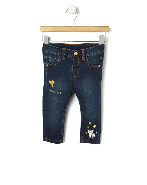 Pantaloni denim con ricamo - Prénatal