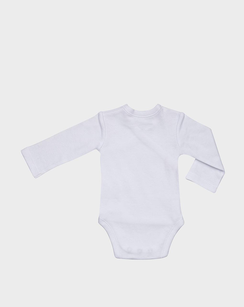 Body bianco in cotone felpato con orsetto - Prénatal