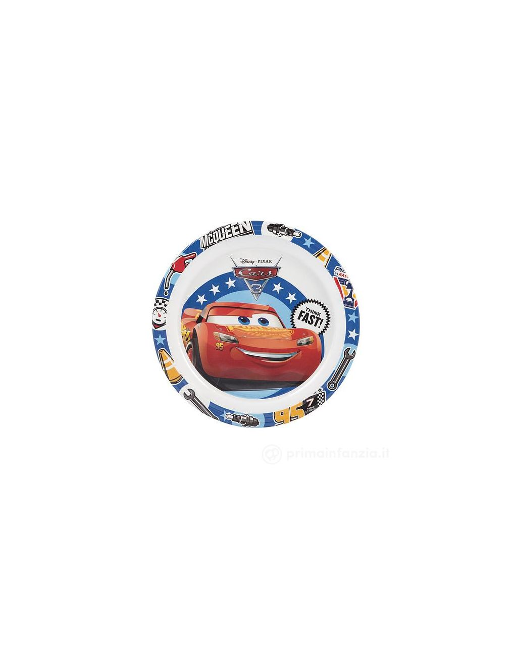 Piatto piano 21,5 cm cars3 disney - Disney, Lulabi Disney