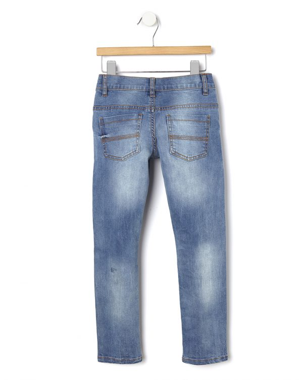 Pantalone denim con stampe e strappi - Prénatal