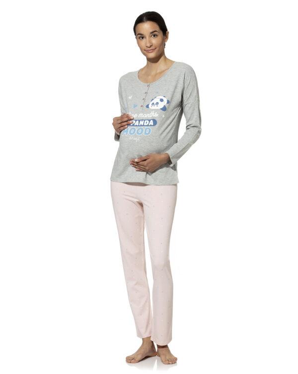 Pigiama allattamento con stampa Mr. Wonderful - Prénatal