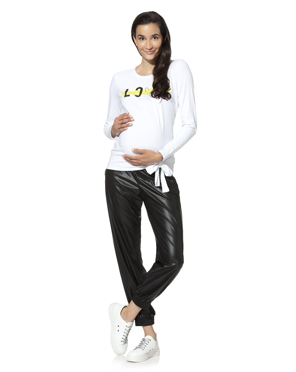 Pantalone premaman in ecopelle - Prénatal