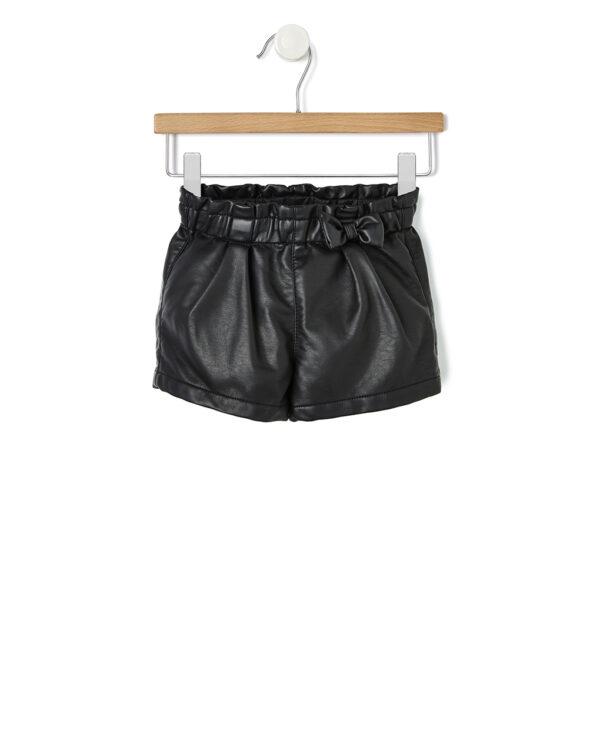 Shorts in ecopelle nera - Prénatal