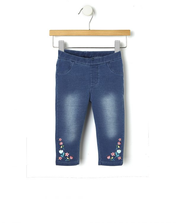 Jeggings in denim con ricamo - Prénatal