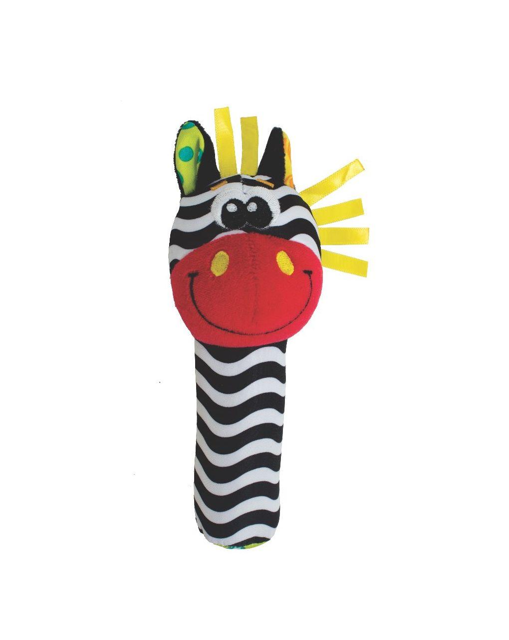 Playgro - jungle squeaker zebra and lion 2 asst - Playgro