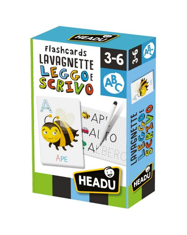 HEADU - FLASHCARDS LAVAGNETTE LEGGO E SCRIVO - Headu