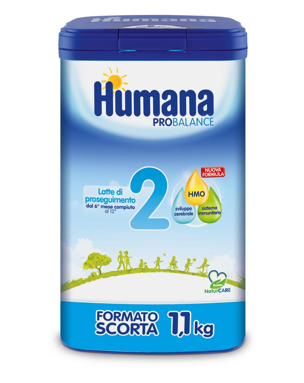 Humana - latte humana 2 polvere 1100g - Humana