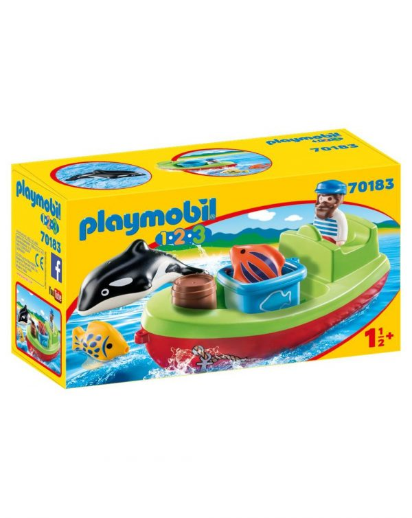 PLAYMOBIL - BARCA DEL PESCATORE 1.2.3 - Playmobil