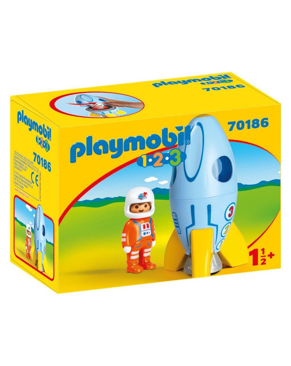Playmobil - razzo con astronauta 1.2.3 - Playmobil