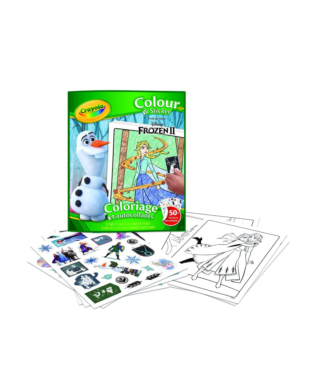 Crayola - album color'n stickers disney frozen 2 - Crayola
