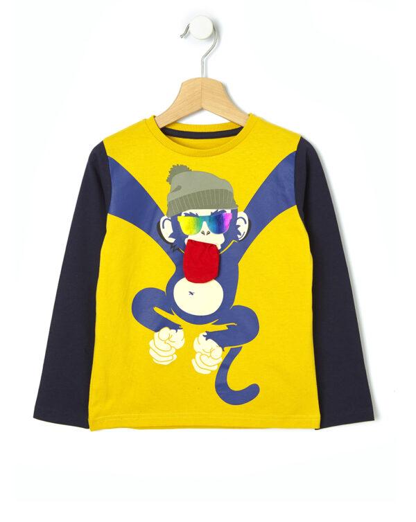 T-shirt con stampa scimmia - Prénatal