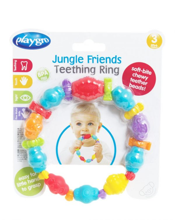 PLAYGRO - JUNGLE FRIENDS TEETHING RING - Playgro