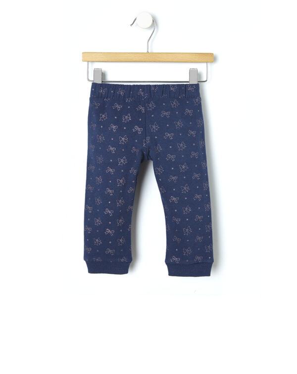 Pantalone felpa con stampa allover fiocchi - Prénatal