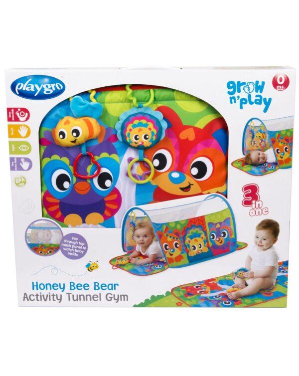 PLAYGRO - HONEY BEE BEAR ACTIVITY TUNNEL GYM - Playgro