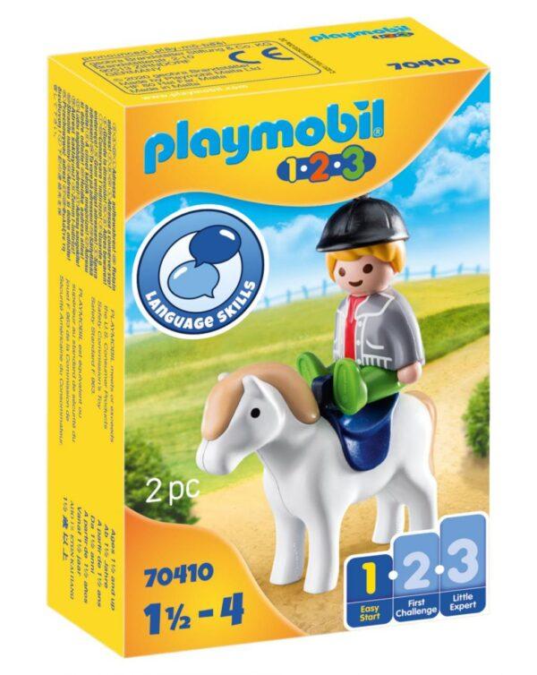PLAYMOBIL - FANTINO CON CAVALLO 1.2.3 - Playmobil