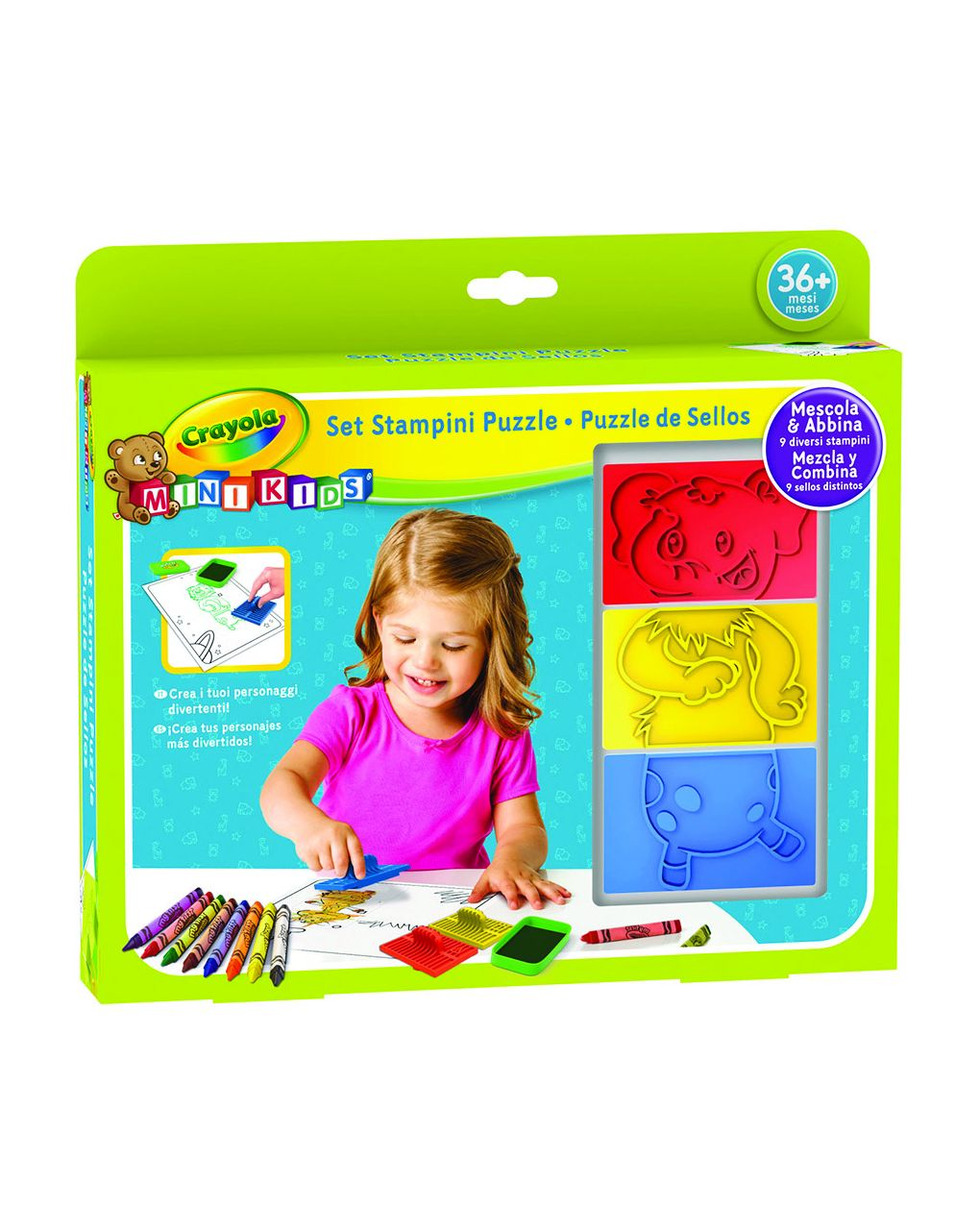 Crayola - set stampini puzzle mini kids - Crayola