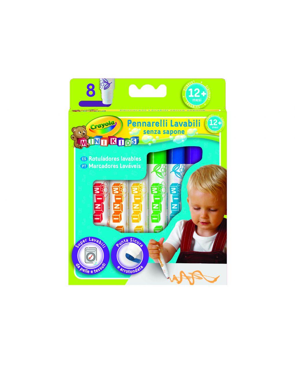 Crayola - 8 colori fibra mini kids - Crayola