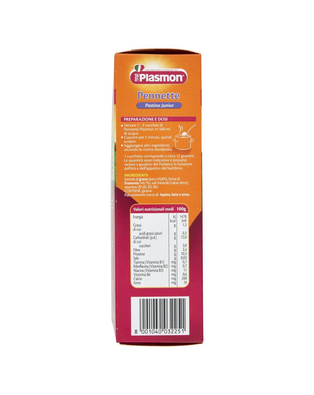 Plasmon - pastina junior pennette 340g - Plasmon