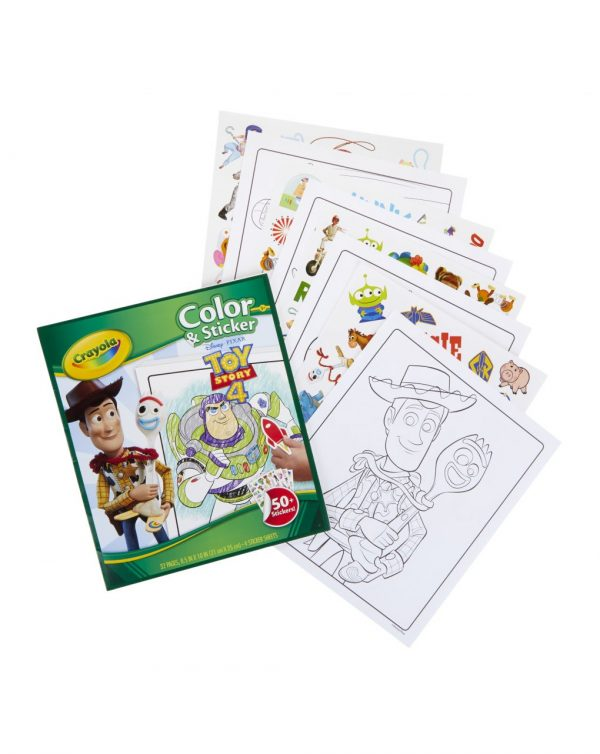 CRAYOLA - ALBUM COLOR'N STICKER TOY STORY 4 - Crayola
